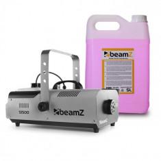 Beamz S1500, mașină de fum, inclusiv 5 litri lichid de ceață, 1500 W, DMX