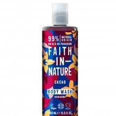 Gel de dus si spuma de baie cu cacao, Faith in Nature, 400 ml