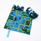 Set Joaca Cu 3 Masinute Si Covoras Cu Dinozauri Tiny Magic Portabil
