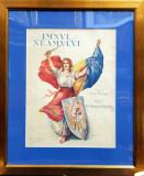 Imnul Neamului, Versuri de Vasile Militaru - Cromolitografie