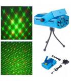 Proiector laser pentru interior, joc de lumini Rosu/Verde