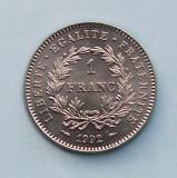 FRANTA - 1 Franc 1992 - French Republic - aUNC, Europa, Nichel
