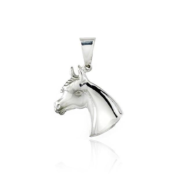 Pandantiv argint - cap de cal, 20 mm