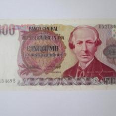 Argentina 5000 Pesos 1984-1985 UNC