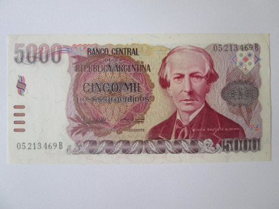 Argentina 5000 Pesos 1984-1985 UNC foto
