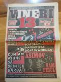 Ziarul vineri 13 - din 1995-anul 1,nr.1- prima aparitie,umor negru,fotoreportaje