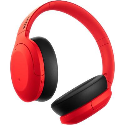 Casti Sony WH-H910NR, Noise Canceling, Quick attention, Hi-Res, Wireless, Bluetooth, NFC, LDAC, Autonomie de 35 ore, Rosu foto