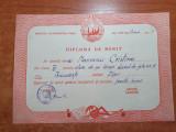 Diploma de merit clasa a 4-a-elem. de pe langa liceul de fete bucuresti - 1950