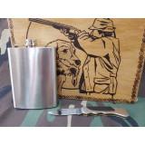 Set sticla de buzunar si briceag