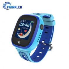 Ceas Smartwatch Pentru Copii Twinkler TKY-DF31 cu Functie Telefon, Localizare GPS, Camera, Pedometru, SOS, IP54 - Albastru, Cartela SIM Cadou