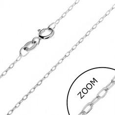 Lănțișor realizat din argint 925 - cu zale înguste oblice, 1 mm
