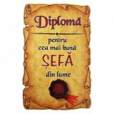 Magnet Diploma pentru Cea mai buna SEFA din lume, lemn, Alexer