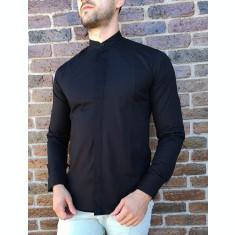 Camasa tunica neagra- camasa tunica camasa barbat LICHIDARE STOC #213
