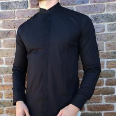 Camasa tunica neagra- camasa tunica camasa barbat camasa slim #213