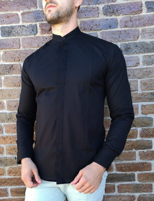 Camasa tunica neagra- camasa tunica camasa barbat LICHIDARE STOC #213 foto