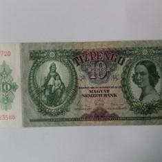 Bancnote Ungaria 10 pengo 1936