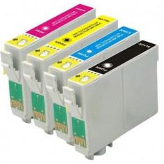 Set 4 cartuse imprimanta Epson T0711/T0712/T0713/T0714 compatibile, Multicolor