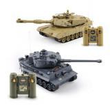 Tancuri cu telecomanda GizmoVine RC Battle Tank 1:28, Set de 2 tancuri