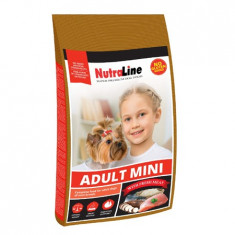 Nutraline Dog Adult Mini, 8kg, hrana caini talie mica