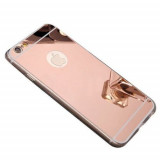 Cumpara ieftin Husa Apple iPhone 8, Elegance Luxury tip oglinda Rose-Gold