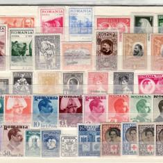 Romania   1900 - 1950     lot      timbre  nestampilate   (  A4  )