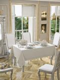 Față de masă Valentini Bianco, Model Honey, 160×220 cm, culoare Bej