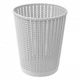 Cos de gunoi, model impletit, 5,5 l, gri, 20×24,5 cm