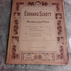 MORCEAUX POUR PIANO - EDOUARD SCHUTT (PARTITURA)
