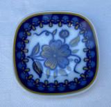 Farfurioara decorativa din portelan german KRAUTHEIM Bavaria decorata in cobalt, Decorative