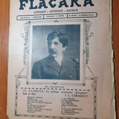flacara 8 martie 1914-art. despre alexandru vlahuta,i.l.caragiale,n.grigorescu