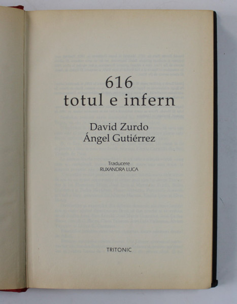 616 , TOTUL E INFERN de DAVID ZURDO , ANGEL GUTIERREZ , 2008
