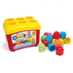Cuburi constructie moi, parfumate pentru bebelusi Clemmy in cutie de plastic 18 piese