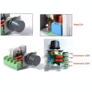 Variator tensiune Regulator turatie dimmer AC 60-220V 2000 / 4000W