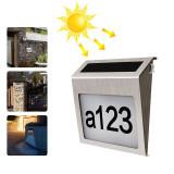 Lampa LED 0,18W cu afisare numar, panou solar 2V/80mA si baterie 1,2V/1200mAh