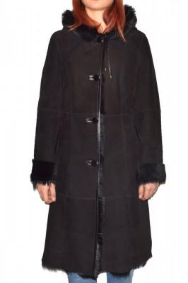 Cojoc dama, din blana naturala, marca Kurban, OGLACK-01-95, negru foto