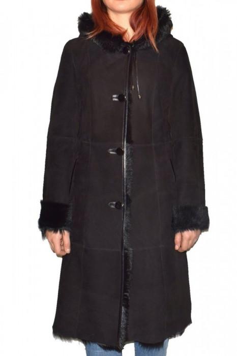 Cojoc dama, din blana naturala, marca Kurban, OGLACK-01-95, negru