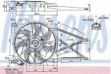 Ventilator, radiator OPEL ASTRA G Cabriolet (F67) (2001 - 2005) NISSENS 85185