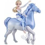 Set Frozen 2 cu papusa Elsa si Nokk, spiritul mitic