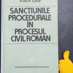 Sanctiunile procedurale in procesul civil roman Ioan Les