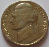 Moneda 5 CENTI - SUA, anul 1988 P *cod 179, America de Nord