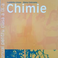 CHIMIE MANUAL PENTRU CLASA A IX-A - Ursea, Goiceanu, Tache, Clasa 9