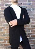Cumpara ieftin Cardigan negru Cardigan slim fit Cardigan barbat cod 206, M, S, XL
