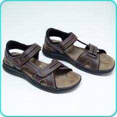 DE FIRMA → Sandale piele, aerisite, comode, calitate DOCKERS → barbati | nr. 45, Maro