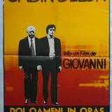 """Afisul filmului """"Doi oameni in oras"""" cu Jean Gabin, Alain Delon, Victor Lanoux"""