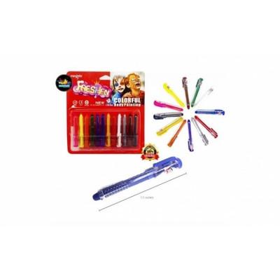 Set 12 creioane colorate - pentru pictare corporala foto