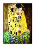 Reproducerea picturii Gustav Klimt Sărutul textură pictată manual 100x70cm