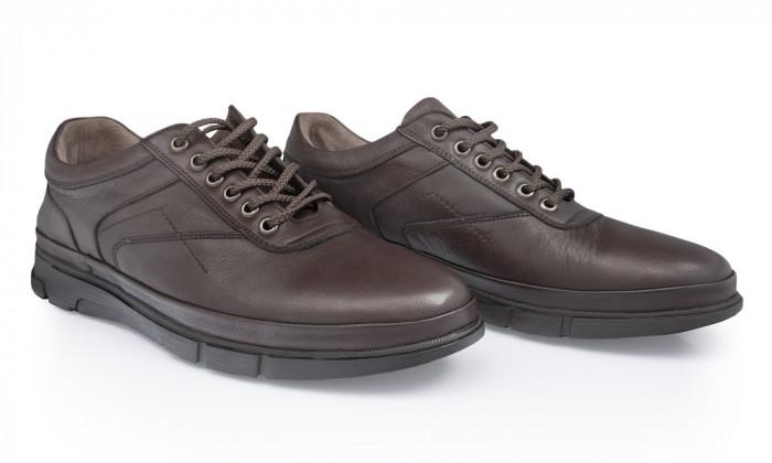 Pantofi barbati din piele naturala Caspian Cas-Tiger-01-Kah
