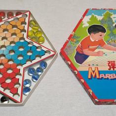 Jucarie comunista de colectie JOC COMPLET - MARBLE CHECKERS - SAH CHINEZESC 1980
