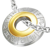 Cumpara ieftin Pandantiv din oțel chirurgical, cu semne zodiacale, culorile argintiu și auriu