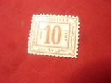 Timbru Egipt 1884 Cifra 10 pares rosu, Nestampilat